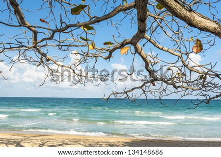 View of Chaweng Noi beach at  Koh Samui Thailand - stock photo