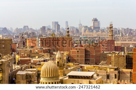View of city center of Cairo - Egypt - stock photo