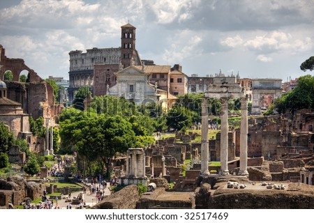 view of city of Rome Italy