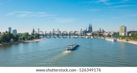 view of Cologne, Germany Beautiful travel photo