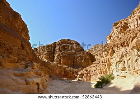 View of Colored Canyon (Egypt) - stock photo