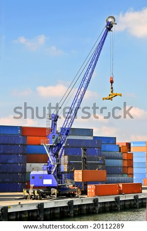 View of containers - stock photo