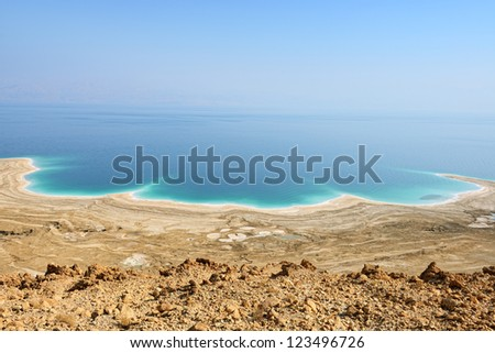 view of Dead Sea, Israel - stock photo