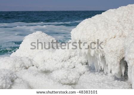 View of Dead sea. Jordan. - stock photo