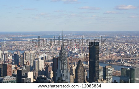 View of Downtown New York - stock photo