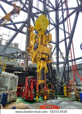 View Drilling Top Drive System On Stock Photo Royalty