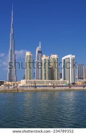 View of Dubai skyline, UAE.  - stock photo