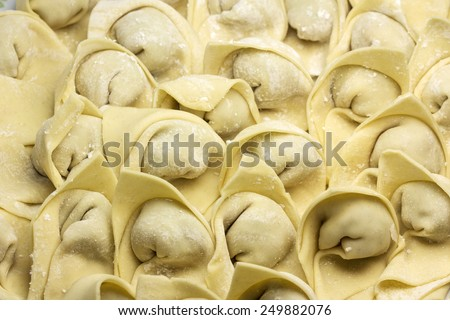 view of dumplings - stock photo