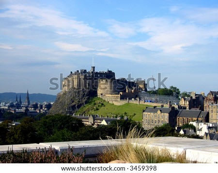 View of Edinburgh Castle, Scotland - stock photo