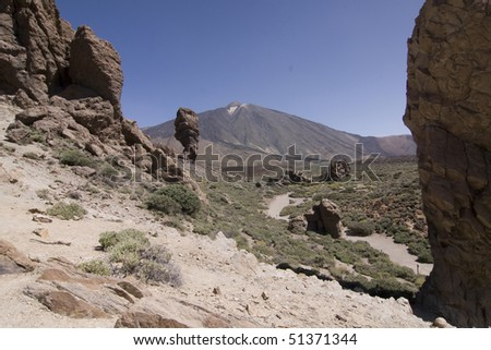 View of El Teide the highest mountain of Spain