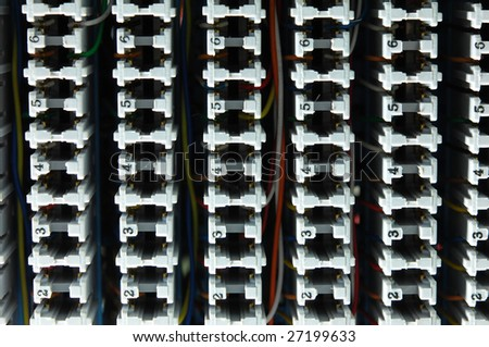 View of  electrical wires and cable numodules - stock photo