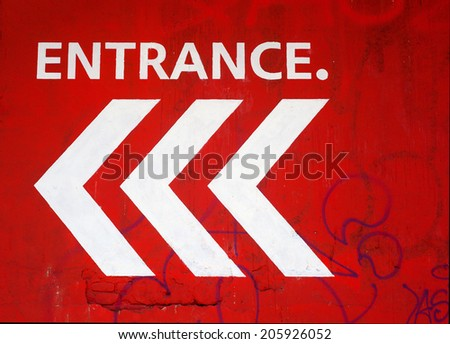 View of Entrance red signal - stock photo