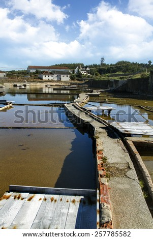 View of famous interior saline location of Rio Maior, Portugal.