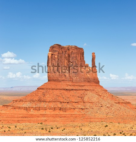 View of famous Monument Valley West Thumb - stock photo