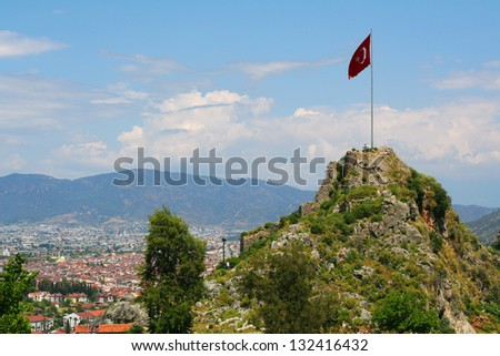 View of Fethiye town in Turkey - stock photo