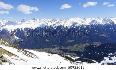 View of Fiss, Austria - stock photo