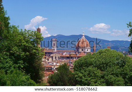 View of Florence from Bardini garden, Italy