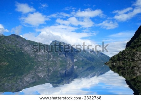 View of Geirangerfjord in Norway, Europe - stock photo