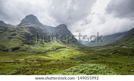 View of Glencoe, Scotland - stock photo