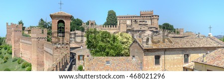 View of Gradara castle on Marche, Italy.