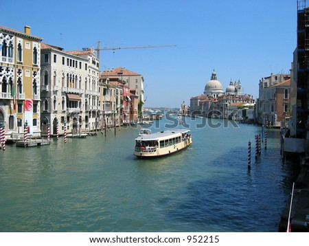View of Grand Canal at Venice, Italy