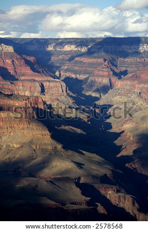 View of Grand Canyon National Park on sunny day