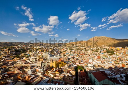 view of Guanajuato city, Mexico - stock photo