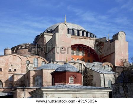 View of Hagia Sofia, Istanbul, Turkey - stock photo