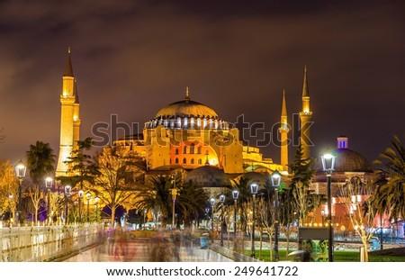 View of Hagia Sophia in Istanbul - Turkey - stock photo
