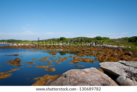 View of Halifax Harbor, Nova Scotia - stock photo