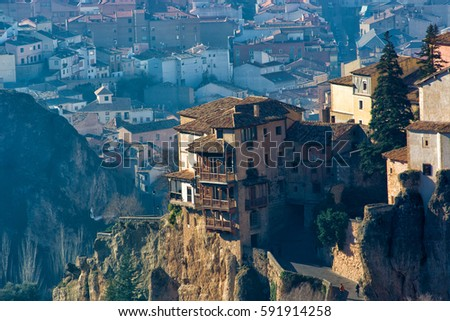 Amazing View Of Hanging Houses In Cuenca, Spain