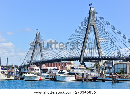 View of harbour in Sydney  - stock photo