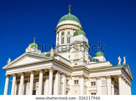View of Helsinki Lutheran Cathedral - Finland
