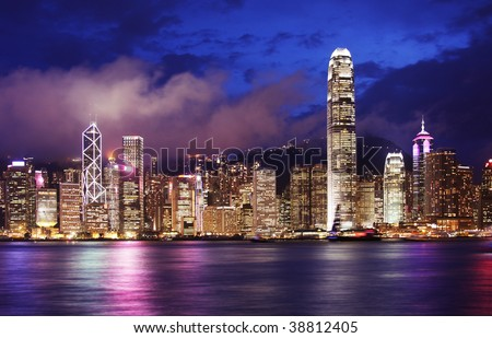 View of Hong Kong from across Victoria Harbour
