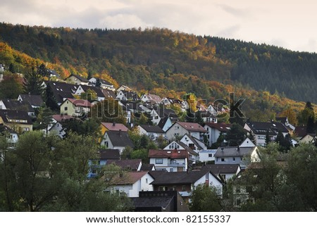 View of hose on mountain , Germany - stock photo