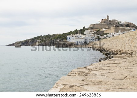 View of Ibiza Town, Balearic Islands, Spain