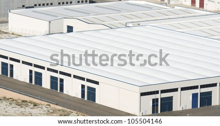 View  of industrial zone - stock photo