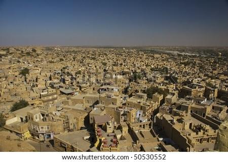 view of Jodhpur city, Rajastan, India - stock photo