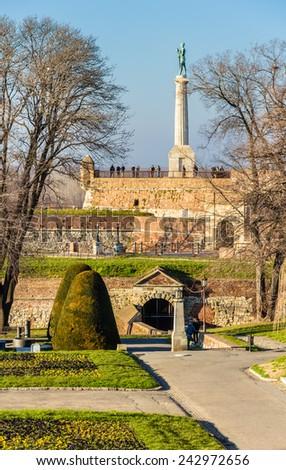View of Kalemegdan Park in Belgrade - Serbia - stock photo