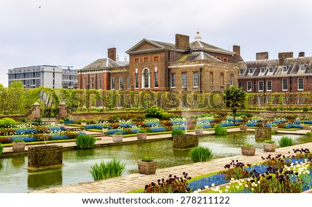 View of Kensington Palace in London - England - stock photo