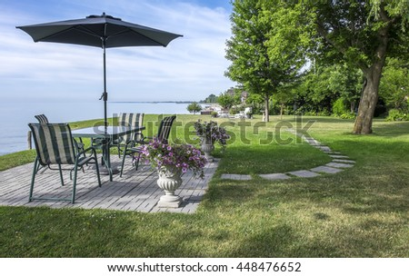 View of Lake Erie From the Backyard Patio