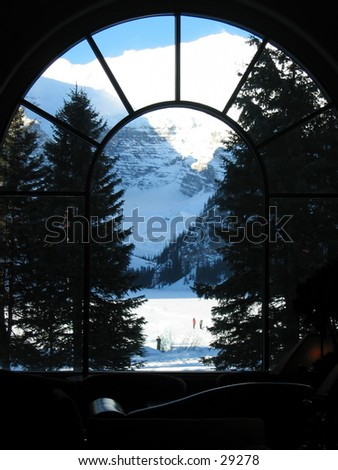 View of Lake Louise in Banff, Canada. - stock photo