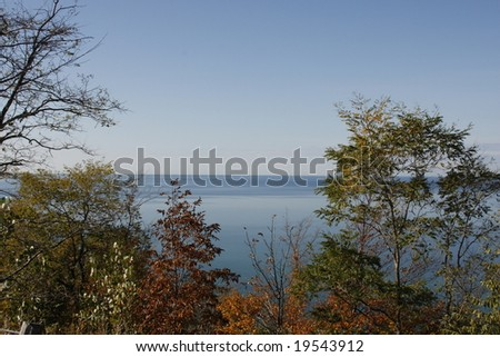 View of Lake Michigan in the Fall