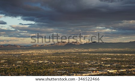 View of Las Vegas, Nevada - stock photo