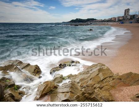 View of Lloret de mar.Catalonia,Spain - stock photo