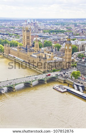 View of London, UK - stock photo