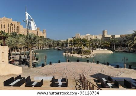 View of Madinat souk in Dubai, United Arab Emirates - stock photo