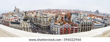 View of Madrid - stock photo