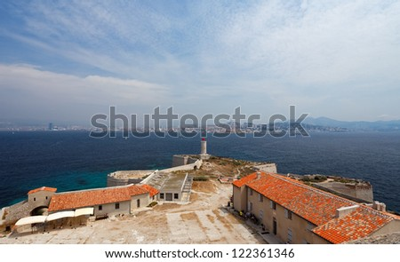 View of Marseille (France) from If island