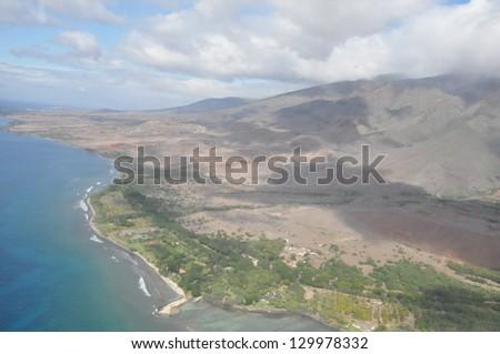 View of Maui, Hawaii - stock photo